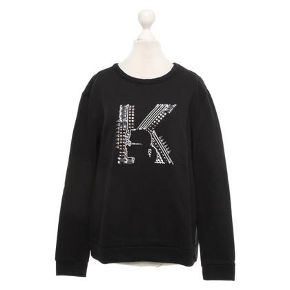 Karl Lagerfeld Top en noir