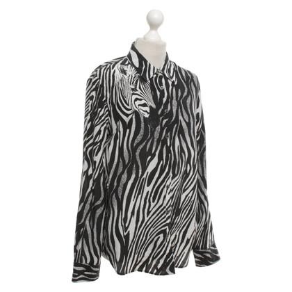 Equipment Silk blouse with zebra print