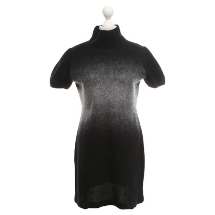 Marc Cain Gebreide jurk zwart / grijs