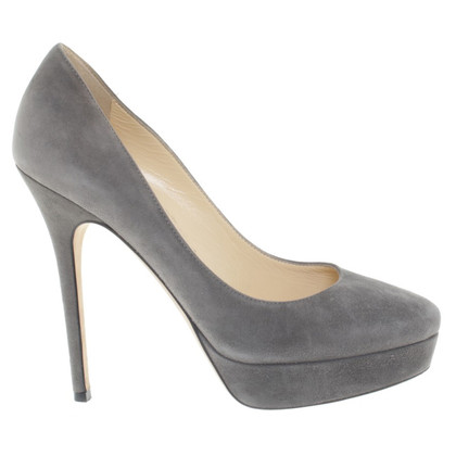Jimmy Choo Wildlederpumps in Grau