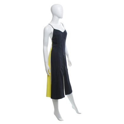 Rag & Bone Strap dress in blue / yellow / beige