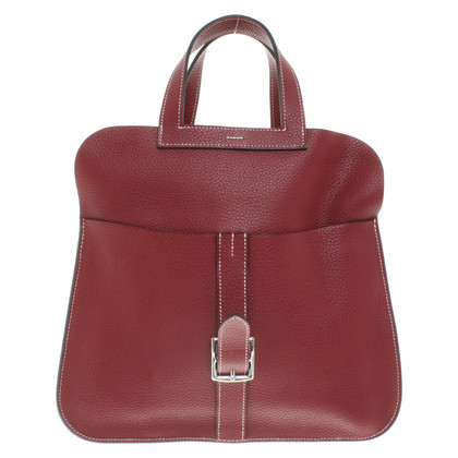 Hermès '' Halzan 30 Clémence leather '