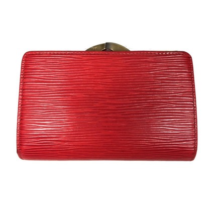 "Louis Vuitton ""Billets Viennois Epi"" Leder in Rot"