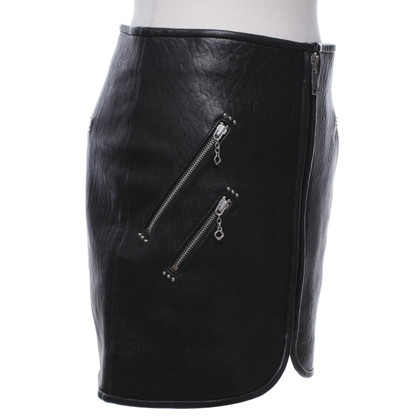 Isabel Marant Etoile Leather skirt in black