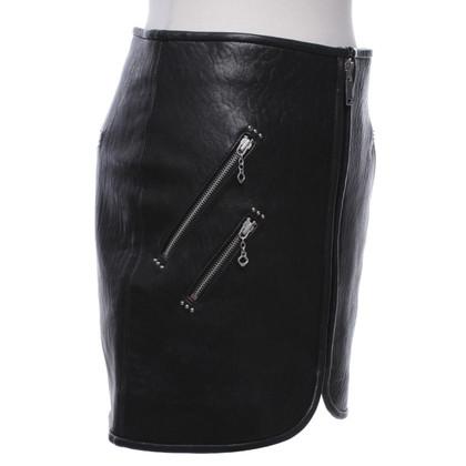 Isabel Marant Etoile Lederen rok in zwart