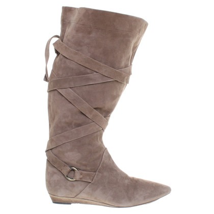 Bally Suede boots in Taupe