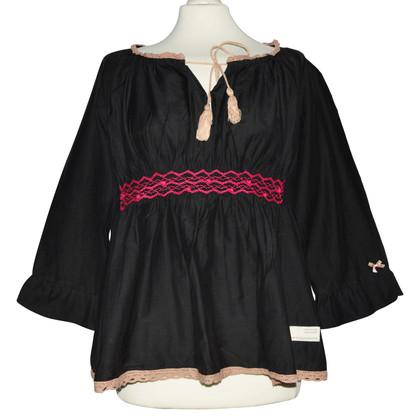 Odd Molly Black Cotton Tunic