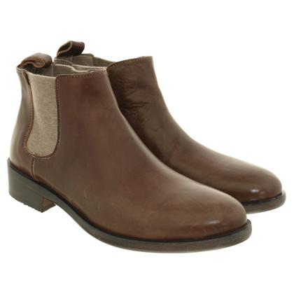 Brunello Cucinelli Chelsea Boots in Braun