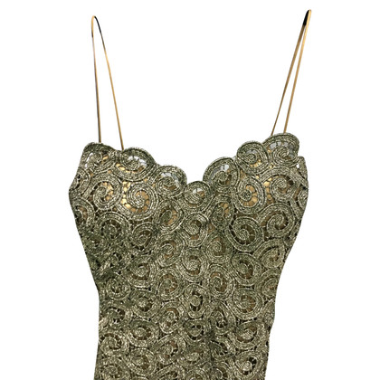 Alberta Ferretti Goud-gekleurde jurk