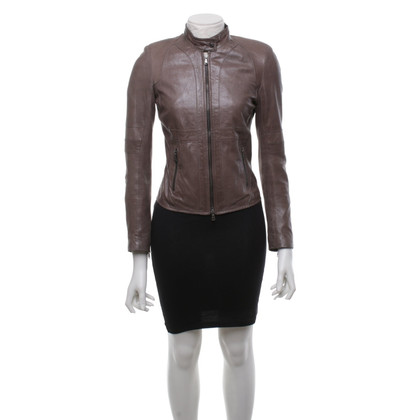 Vent Couvert Leather jacket in grey brown