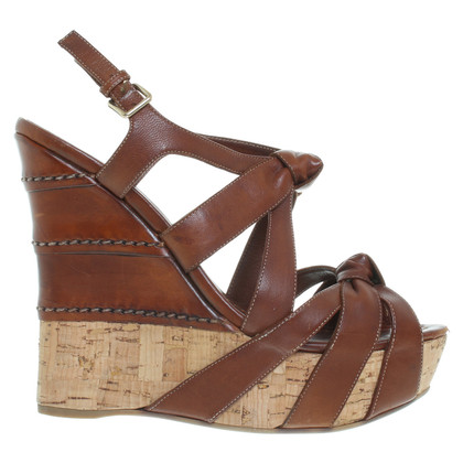 Miu Miu Wedges in Braun