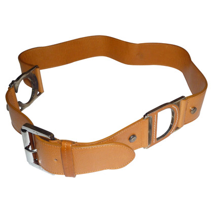 Christian Dior LEATHER BROWN BELT BY DIOR