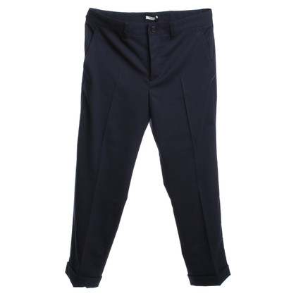 Miu Miu Pantalon en bleu foncé