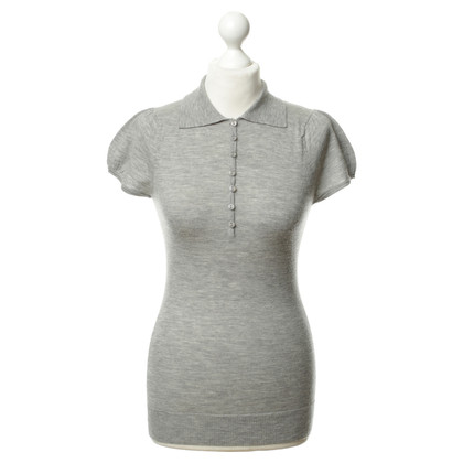 Bruno Manetti Grey knitted polo shirt