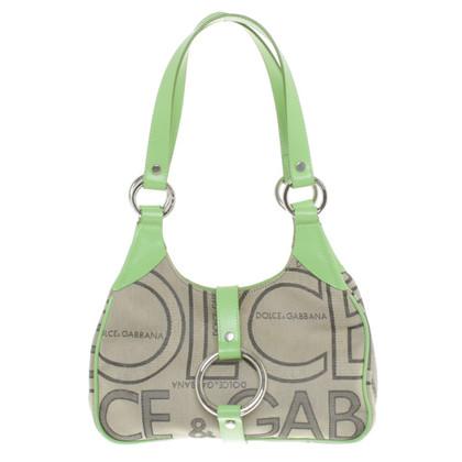 Dolce & Gabbana Handtasche in Beige/Grün