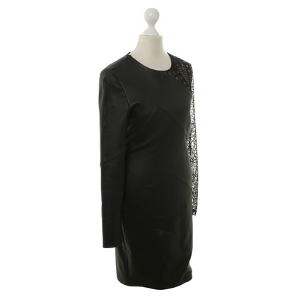Emilio Pucci Leather dress with lace