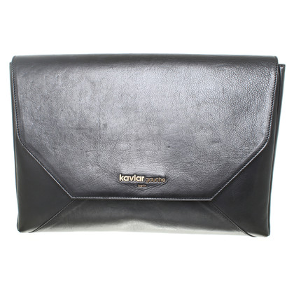 Kaviar Gauche Laptop Case black leather