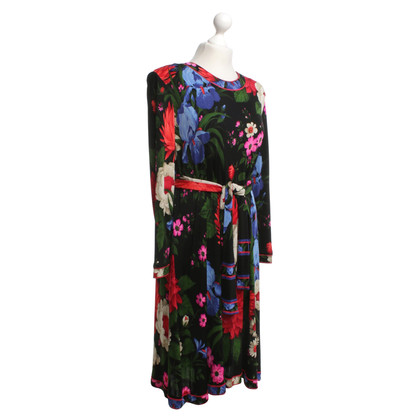 Leonard Silk dress with floral pattern