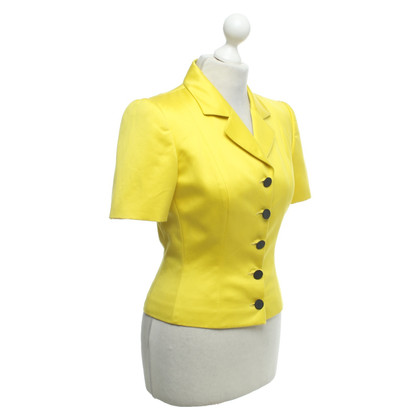 Christian Dior Short sleeved blazer in yellow