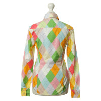 Pringle of Scotland Blouse with colorful diamond pattern