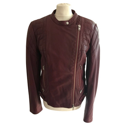 Closed Leather jacket in Bordeaux