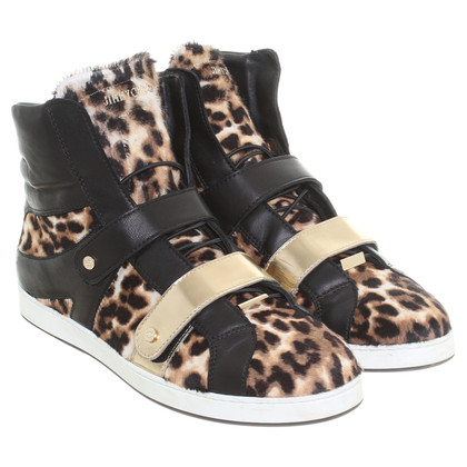 Jimmy Choo High-top sneaker in het ontwerp van de Cheetah