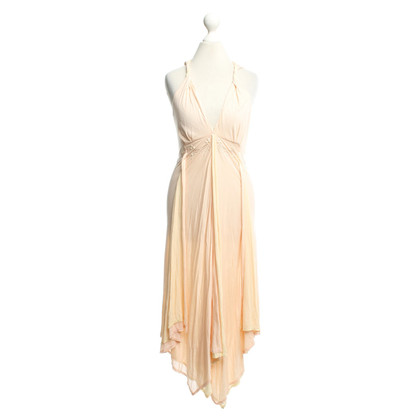 Jitrois Flounce dress in rose / yellow