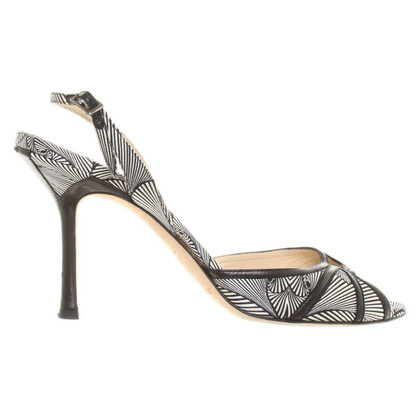 Jimmy Choo Sandals in black and white