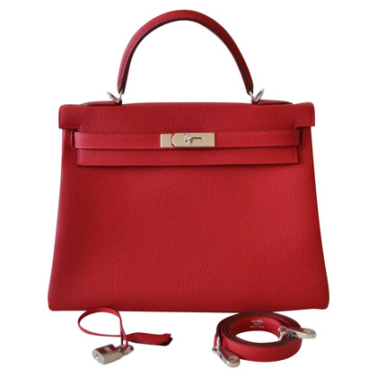 "Hermès ""Kelly Bag 32 Togo Rouge Vif"""