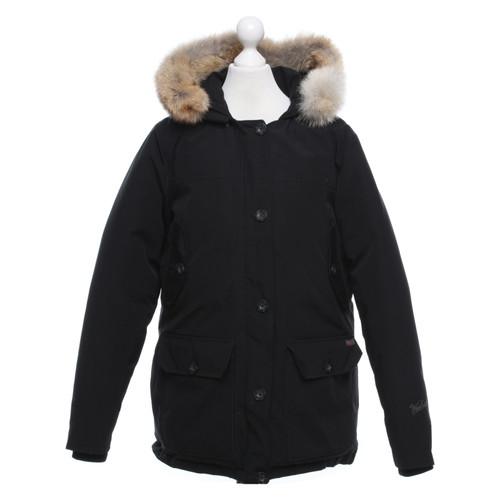 online retailer 9df9c fe506 Woolrich Jacke/Mantel in Schwarz - Second Hand Woolrich ...