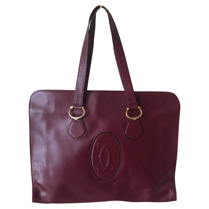 Cartier Schultertasche in Bordeaux