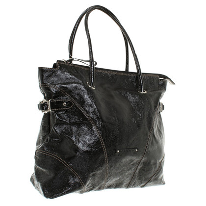 Coccinelle Patent leather bag in black