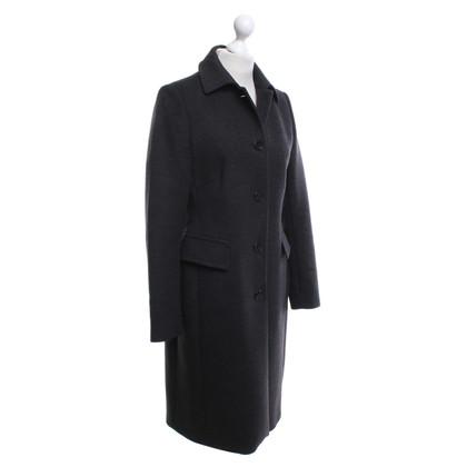 René Lezard Coat in dark gray