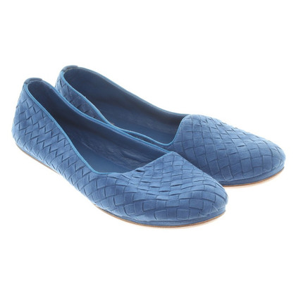 Bottega Veneta Geflochtene Slipper in Blau