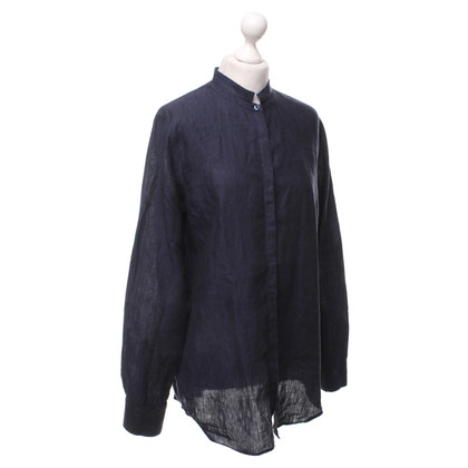 Calvin Klein blouse de lin en bleu foncé