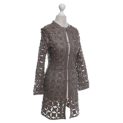 Caban Romantic Coat in taupe