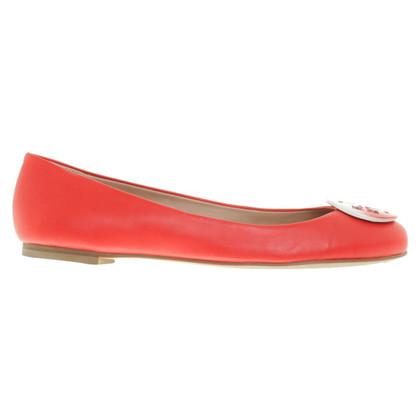 Tory Burch Ballerina's in het rood
