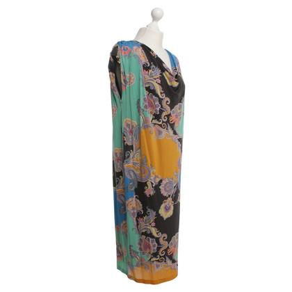 Etro Kleid mit bunten Blumenmuster