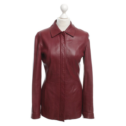 Hugo Boss Lederjacke in Rot