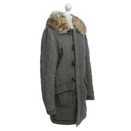 Balenciaga Easy coat with fur collar
