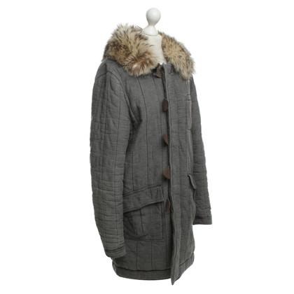 Balenciaga Facile cappotto con collo in pelliccia