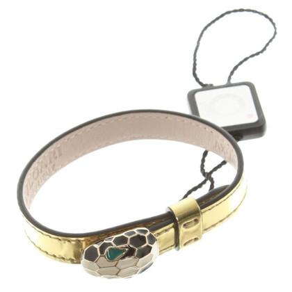 Bulgari Lederen armband met strass