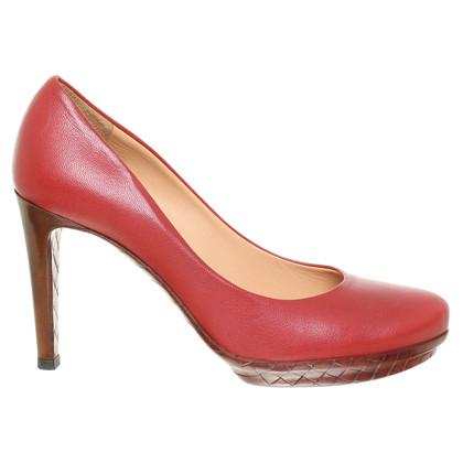 Bottega Veneta Rote Lederpumps