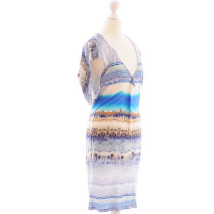 Alexander McQueen blau-gemustertes Kleid