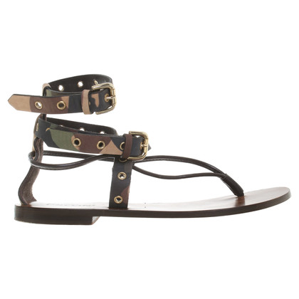 Pollini Camouflage sandals