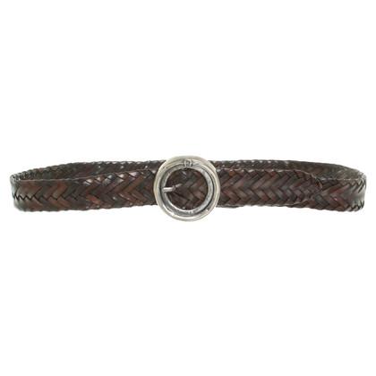 Aigner Braided leather belt