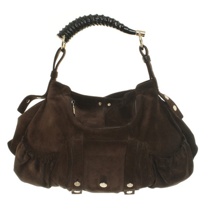 Yves Saint Laurent Borsa a tracolla in Brown