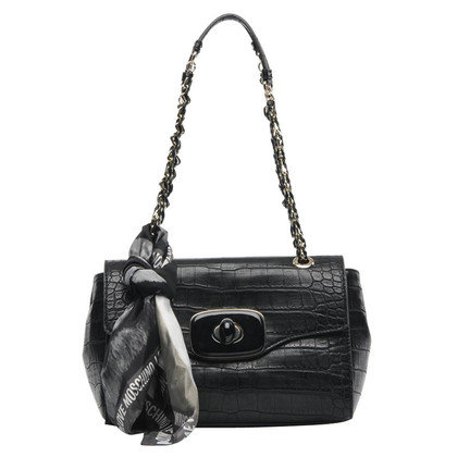 Moschino Love Bag with reptile embossing