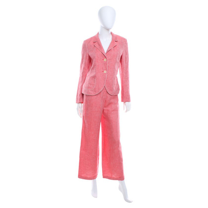 René Lezard Linen suit in red