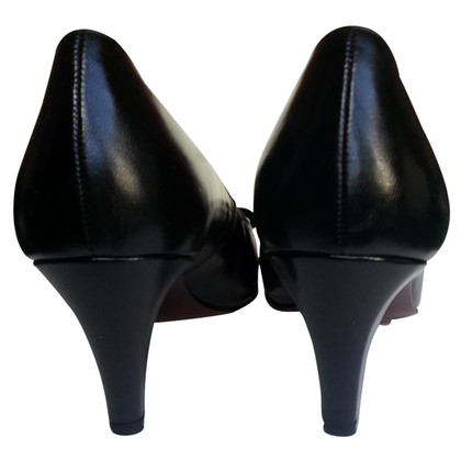 Bally Black Calfskin Pump with Peeptoe